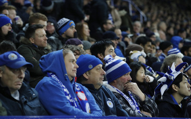 Leicester City fans look dejected