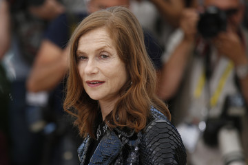 "Cast member Isabelle Huppert poses during a photocall for the film ""Louder Than Bomb"" in competition at the 68th Cannes Film Festival in Cannes"