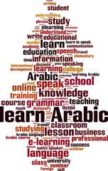Learn Arabic word cloud