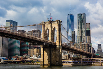 Photo sur Aluminium Brooklyn Bridge Brooklyn Bridge and Manhattan skyline