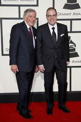 Singer Tony Bennett and Bill Charlap arrive at the 58th Grammy Awards in Los Angeles