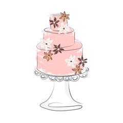 Fancy Cake Vector Illustration