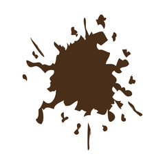 brown splash color paint explode image vector illustration