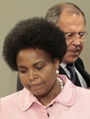 Russia's Foreign Minister Lavrov meets with his South African counterpart Nkoana-Mashabane in Moscow