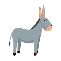 donkey animal christianity religion image vector illustration