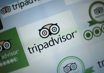 The logo for a travel website company TripAdvisor Inc is shown on a computer screen in this illustration photo in Encinitas California
