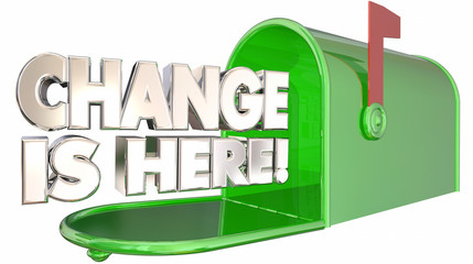Change is Here Mailbox Message Alert Adapt 3d Illustration