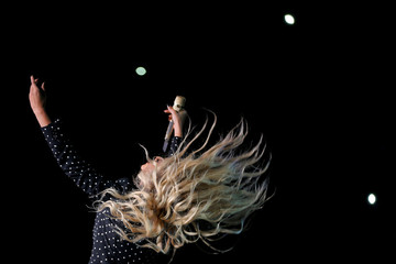 Beyonce performs at a campaign concert for U.S. Democratic presidential nominee Hillary Clinton in Cleveland