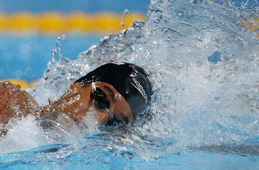 Brazil's Oliveira swims in the men's 200m freestyle semi-final during the World Swimming Championships at the Sant Jordi arena in Barcelona