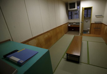 An inside view of a shared cell is seen at the East Japan Immigration Center in Ushiku