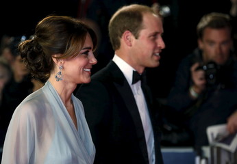 "Prince William and Catherine Duchess of Cambridge attend the world premiere of the new James Bond 007 film ""Spectre"" at the Royal Albert Hall in London"