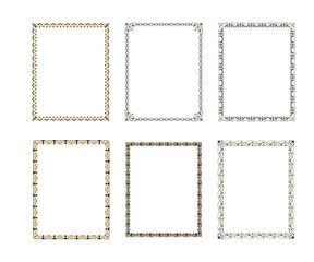 Set luxury decorative frame. vector illustration