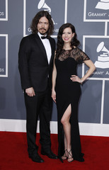 John Paul White and Joy Williams, known as country duo The Civil Wars, arrive at the Grammys in Los Angeles
