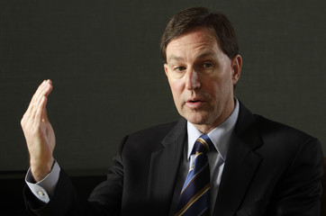 Hormel Foods Chief Executive Jeff Ettinger speaks during the Reuters Food and Agriculture Summit in Chicago