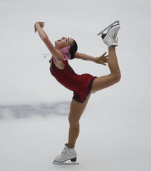 Russia's Sotnikova performs at the women's short programme during the ISU Grand Prix of Figure Skating in Beijing