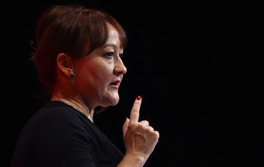 Kerry McCarthy Britain's Shadow Secretary of State for the Environment  speaks during the opposition Labour Party's annual conference in Brighton, southern Britain