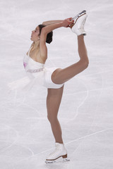 Czisny of the U.S. performs during the Ladies Short Program in the Bompard Trophy event at Bercy in Paris