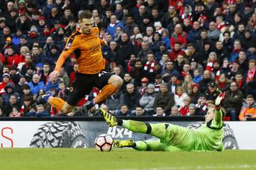 Wolverhampton Wanderers' Andreas Weimann scores their second goal