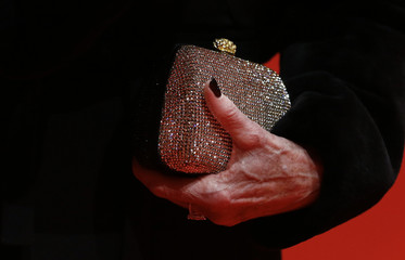 U.S. actress Fonda holds a clutch bag as she arrives for the screening of the film 'Promised Land' at the 63rd Berlinale International Film Festival in Berlin