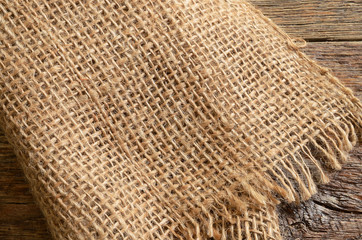 Burlap Canvas Abstract