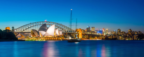 Photo sur Plexiglas Sydney Downtown Sydney skyline