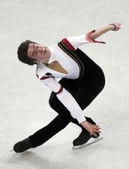 Brandon Mroz skates during the men's short program at the U.S. Figure Skating Championships in Greensboro