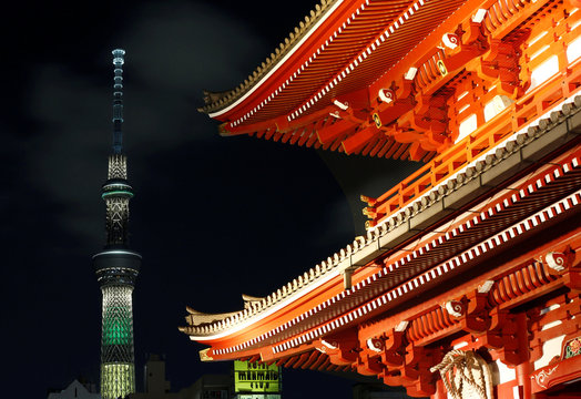 Tokyo Skytree, the world's tallest broadcasting tower at 634 metres (2080 feet), is lit up to celebrate the 2016 Rio Olympics, in Tokyo