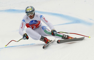 Werner Heel of Italy skis in the men's World Cup Super-G race in Val Gardena