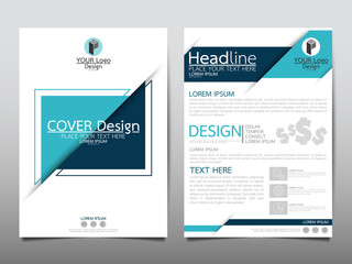 Blue flyer cover business brochure vector design, Leaflet advertising abstract background, Modern poster magazine layout template, Annual report for presentation.