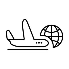 Airplane vector icon. Style is graphic symbol.
