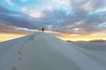 Hike in White desert