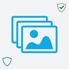 Frame vector icon web