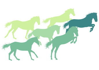 Horse abstract vector background isolated