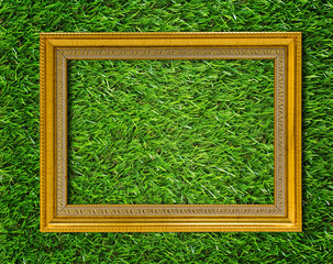 Gold Wood Frame Background