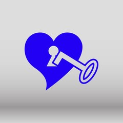 heart with key icon