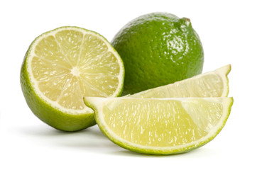 Lime with its juicy slices