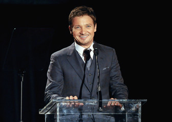 Actor Renner reads story of Billie and Hal Long Term Care at 2nd Annual Reel Stories, Real Lives event benefiting the Motion Picture & Television Fund in Los Angeles, California