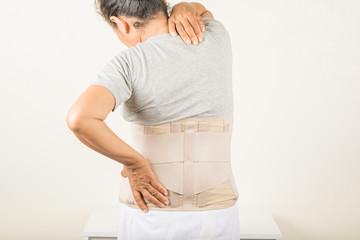 Back pain in old women