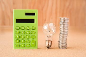電卓 計算 電気 節約イメージ