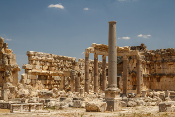 Ruins of the ancient Roman sacred site Baalbek, Lebanon