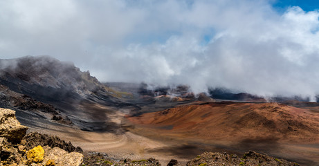 Through the Clouds at Haleakala Crater