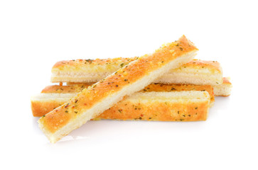 Bread sticks isolated on white background
