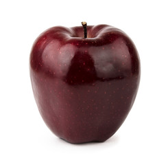 Burgundy red apple. Isolated on white background.