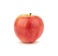 Red apple isolated on white background. Side view.