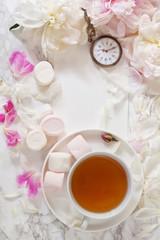 Tea with marshmallows