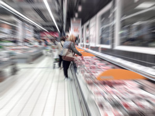 People at the supermarket