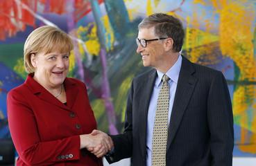 German Chancellor Merkel welcomes Microsoft founder Gates for talks in Berlin