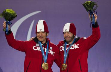 Canada's Brian and Robin McKeever at the 2010 Paralympic Winter Games in Whistler