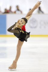 Japan's Murakami performs during women's free skating at the 7th Asian Winter Games competition in Astana