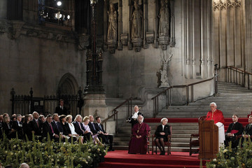 Pope Benedict XVI delivers a speech in Westminster Hall, in the Palace of Westminster, in London